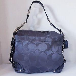 COACH F15483 Silver Steel Carly Lurex Hobo Bag